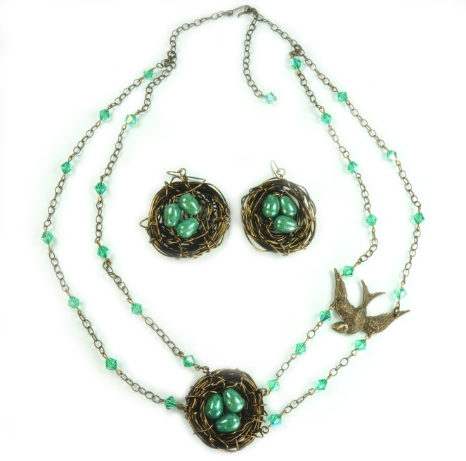 bird-nest-necklace-earrings