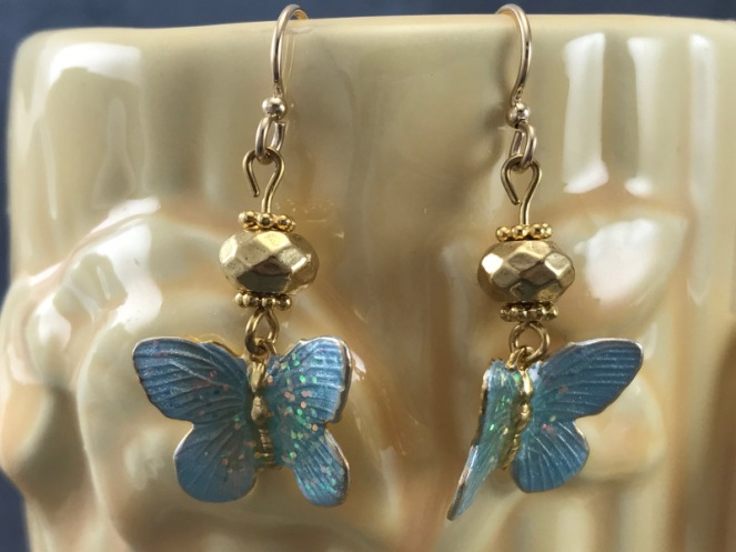 butterflycharmearrings